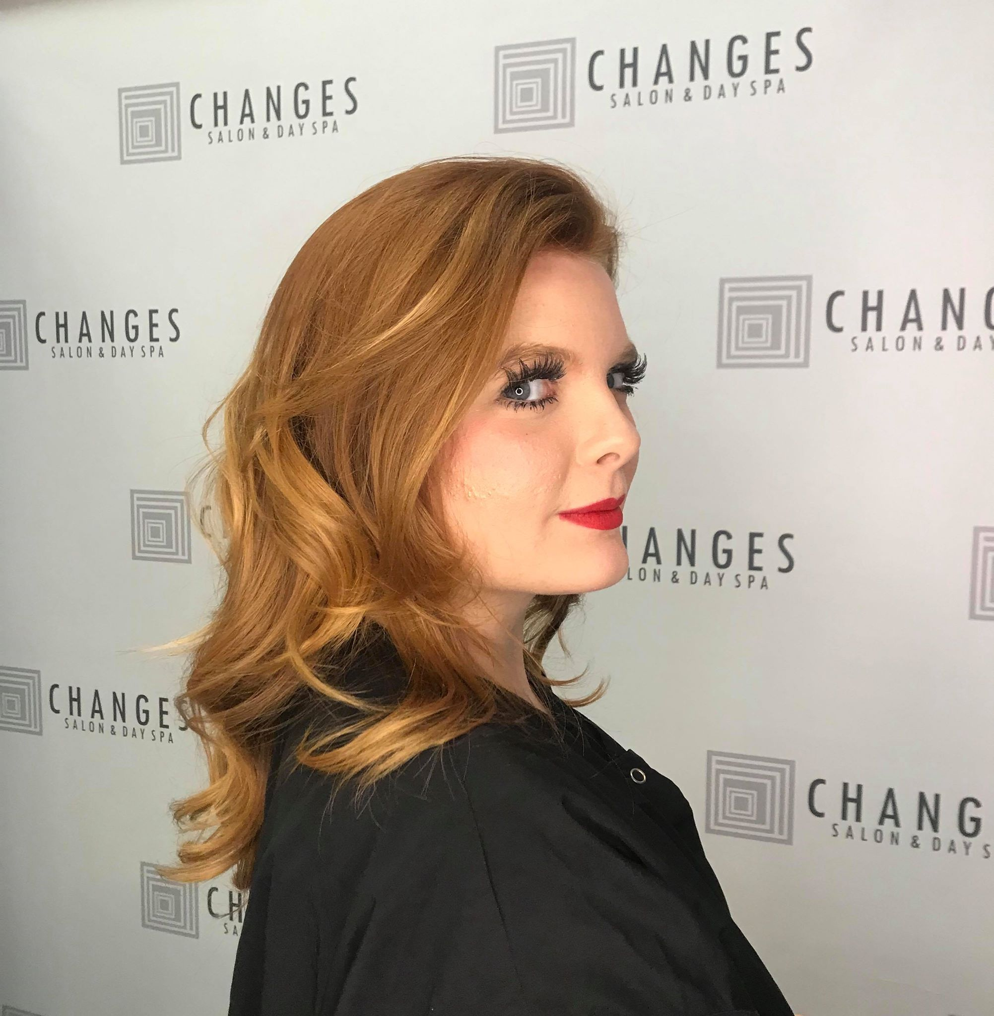 Copper Peach Illumina Color by Lauren at Changes Salon and Day Spa in walnut Creek Ca