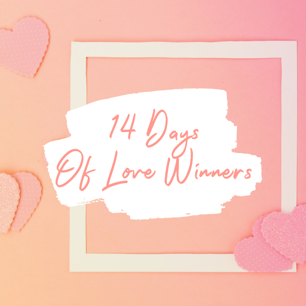 14 days of love winner title card