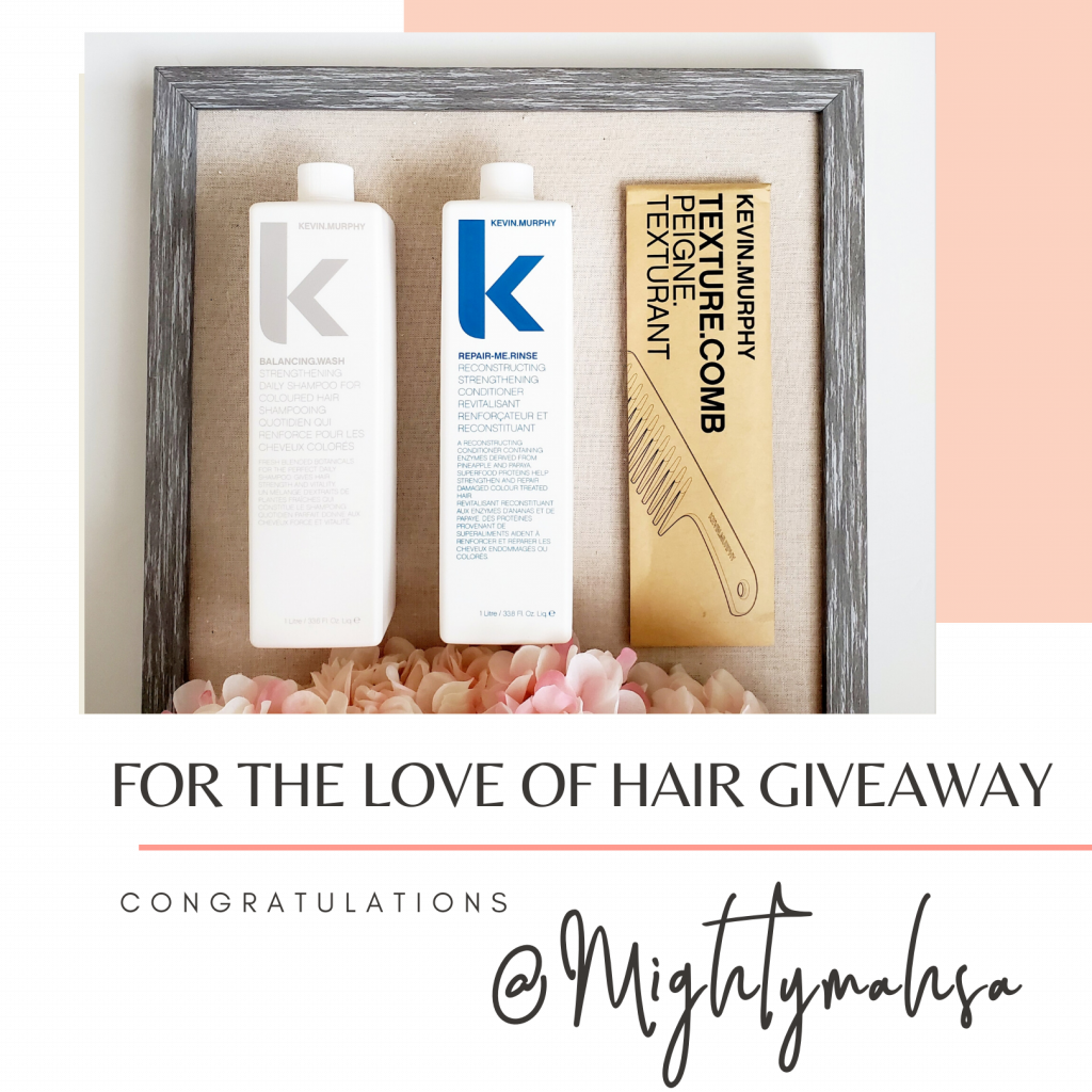 For the love of hair giveaway winner @mightymahsa