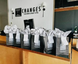 Changes Salon offers clients the option to order online & pick up their products for a contactless experience