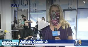 KPIX 5 local news station at walnut creek salon Changes re-opening