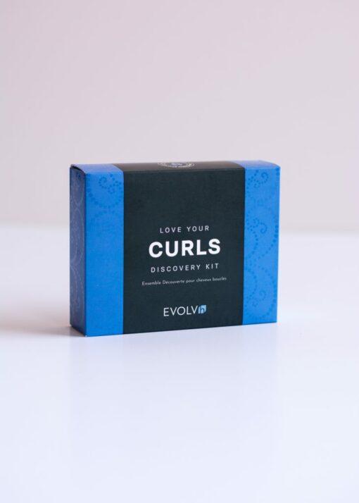 Healthy Curls Trip box from Evolvh haircaare at changes hair salon