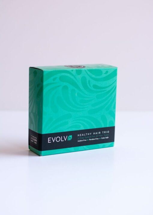 Healthy Hair Trio from Evolvh front of box alternative view